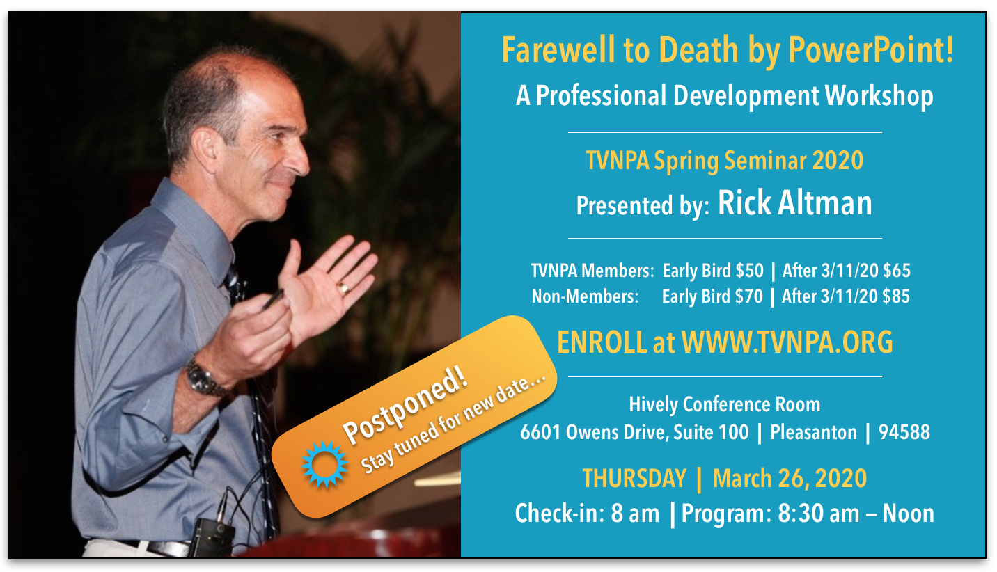 TVNPA Spring Seminar: Farewell to Death by Power: Postponed due to COVID-19 restrictions.