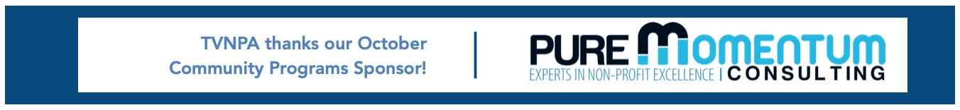 TVNPA Community Program Sponsor Pure Momentum Consulting