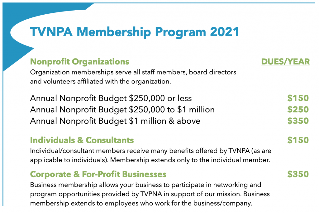 TVNPA Membership Program 2021