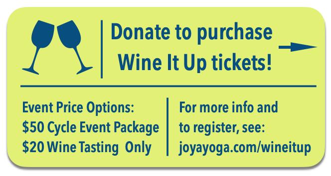 Joya Wine It Up donate